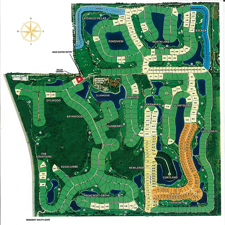 Quail West site map