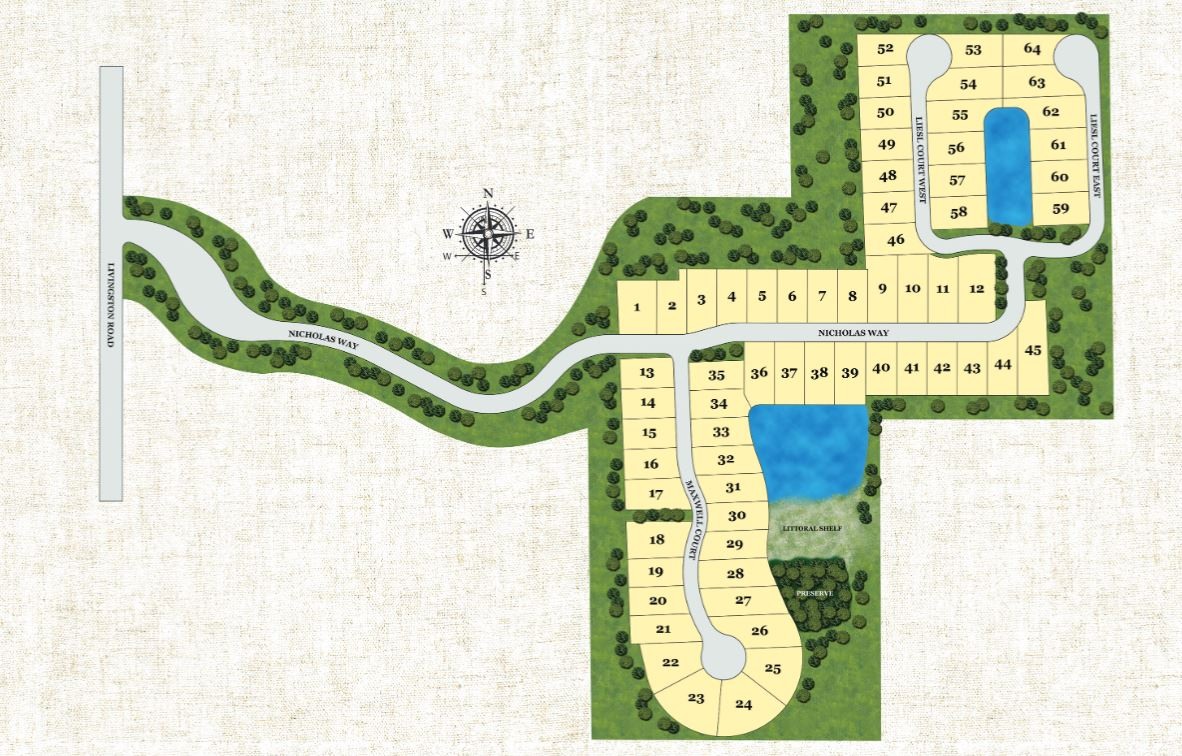 Sereno Grove Site Map
